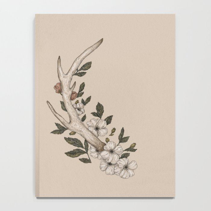 Floral Antler Notebook