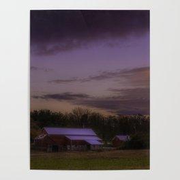 Rural sunrise Poster
