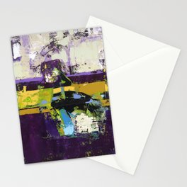 Controversy Prince Deep Purple Abstract Painting Modern Art Stationery Cards