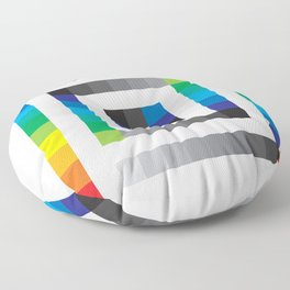 Rainbow Squares Pattern Floor Pillow