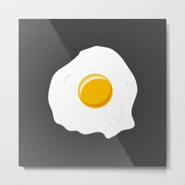 Lonely omelette Metal Print
