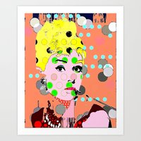 hepburn Art Prints featuring Hepburn by Ricky Sencion