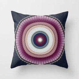 Decorative Wine Dark Blue Mandala Throw Pillow