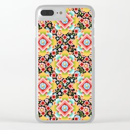 Groovy Cosmic Chintz Clear iPhone Case