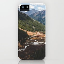 Climbing Independence Pass iPhone Case