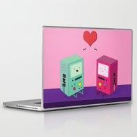 bmo Laptop & iPad Skins featuring BMO & GMO Love by M. C.Tees