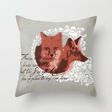 Foxes Have Dens Throw Pillow