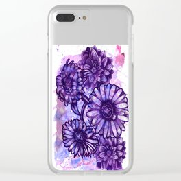 Flowers V.2 Clear iPhone Case