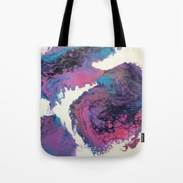 abstract dirty pour Tote Bag