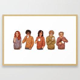 Marauders tea party Framed Art Print
