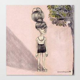 the bun hairstyle bag · die dutt tasche · stanandthepets Canvas Print