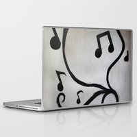 music notes Laptop & iPad Skins featuring Music Notes by S. Vaeth