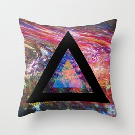 Marble Triangle Throw Pillow