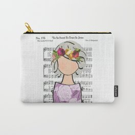 'Tis So Sweet - Gray Carry-All Pouch