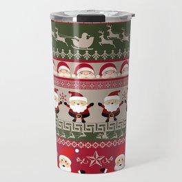 Santa Claus Ugly Sweater Travel Mug