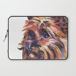 Fun Red Cairn Terrier Dog Portrait bright colorful Pop Art by LEA Laptop Sleeve
