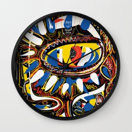 The Third Eye Primitive African Art Graffiti Wall Clock