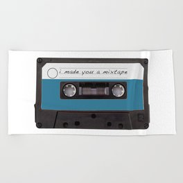 I made you a mixtape | Mix Tape Graphic Design Beach Towel
