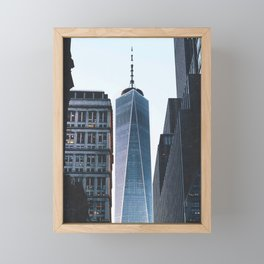 New York City One World Trade Center Framed Mini Art Print