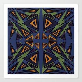 Abstract pattern geometric backgrounds  Art Print