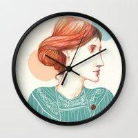 virginia Wall Clocks featuring Dear Virginia... by flaviasorr