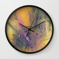 apollo Wall Clocks featuring Abrupt Apollo by J5rson