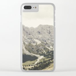 The Dolomites Clear iPhone Case