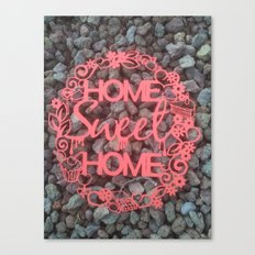 Paper-cut Home sweet home Canvas Print