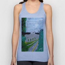 Mississippi River from the Memphis Bluff Walk Unisex Tank Top