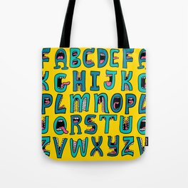 Loud Mouth Alphabet Tote Bag