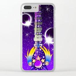 Fusion Keyblade Guitar #131 - Lunar Eclipse & Star Seeker Clear iPhone Case