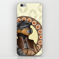 leia iPhone & iPod Skins featuring Leia by Miguel Angel Carroza