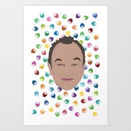 Marcel LeBoeuf et la pluie de noisettes arc-en-ciel Art Print