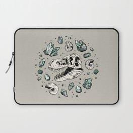 Geo-rex Vortex | Aquamarine | Dinosaur Skull Fossil Art Laptop Sleeve