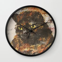 'Everything I Know I Learnt From My Cat' Wall Clock