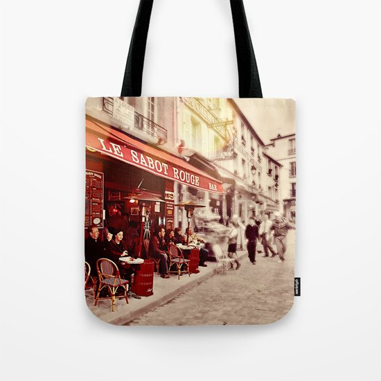 Coffehouse, Sidewalk Cafe Tote Bag