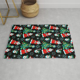 Santa an Penguin Pal Rug