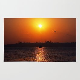sunset in Istanbul Rug