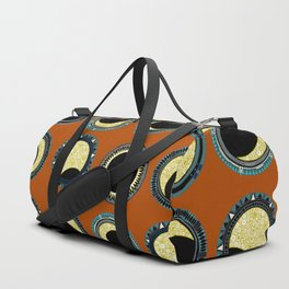 solar eclipse mandala orange Duffle Bag