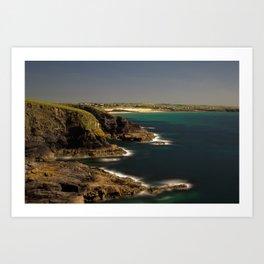 Trevose Head to Constantine Bay, Cornwall, UK Art Print