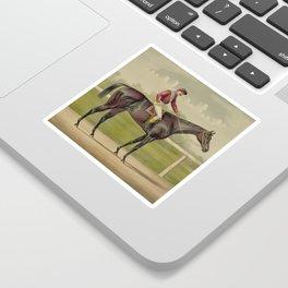 Grand Racer Kingston - Vintage Horse Racing Sticker