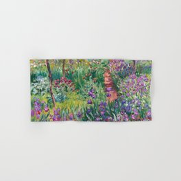The Artist's Garden at Giverny by Claude Monet (1900) Hand & Bath Towel