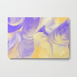 She Sells Sea Shells in Violet and Yellow Metal Print