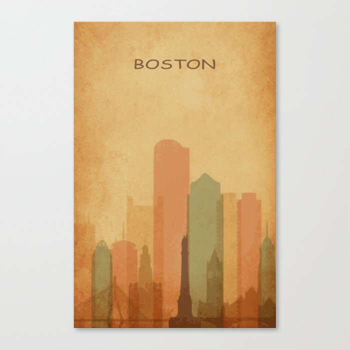 Boston city Canvas Print