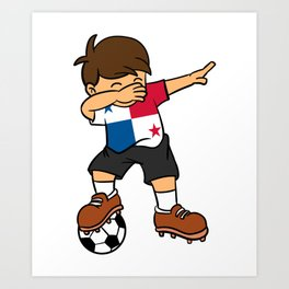 Panama Soccer Ball Dabbing Kid Panamanian Football 2018 Art Print