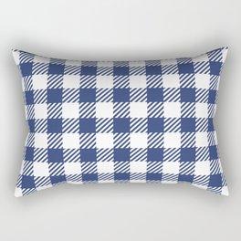 Blue Vichy Rectangular Pillow