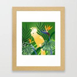 Cockatoo Paradise Framed Art Print