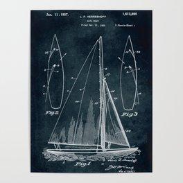 1925 Sail boat patent art Poster