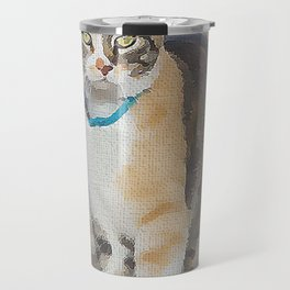 CALICO CAT WATERCOLOR Travel Mug