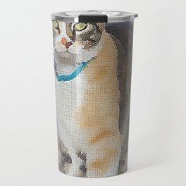 CALICO CAT WATERCOLOR Travel Mug
